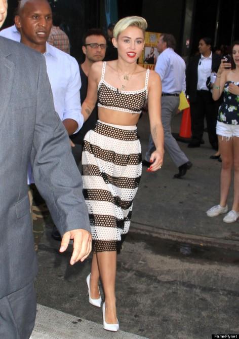 "Miley Cyrus Visits ""Good Morning America"""